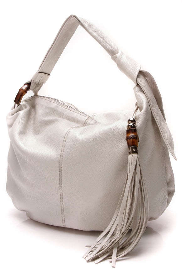 Gucci Medium Jungle Hobo Bag White