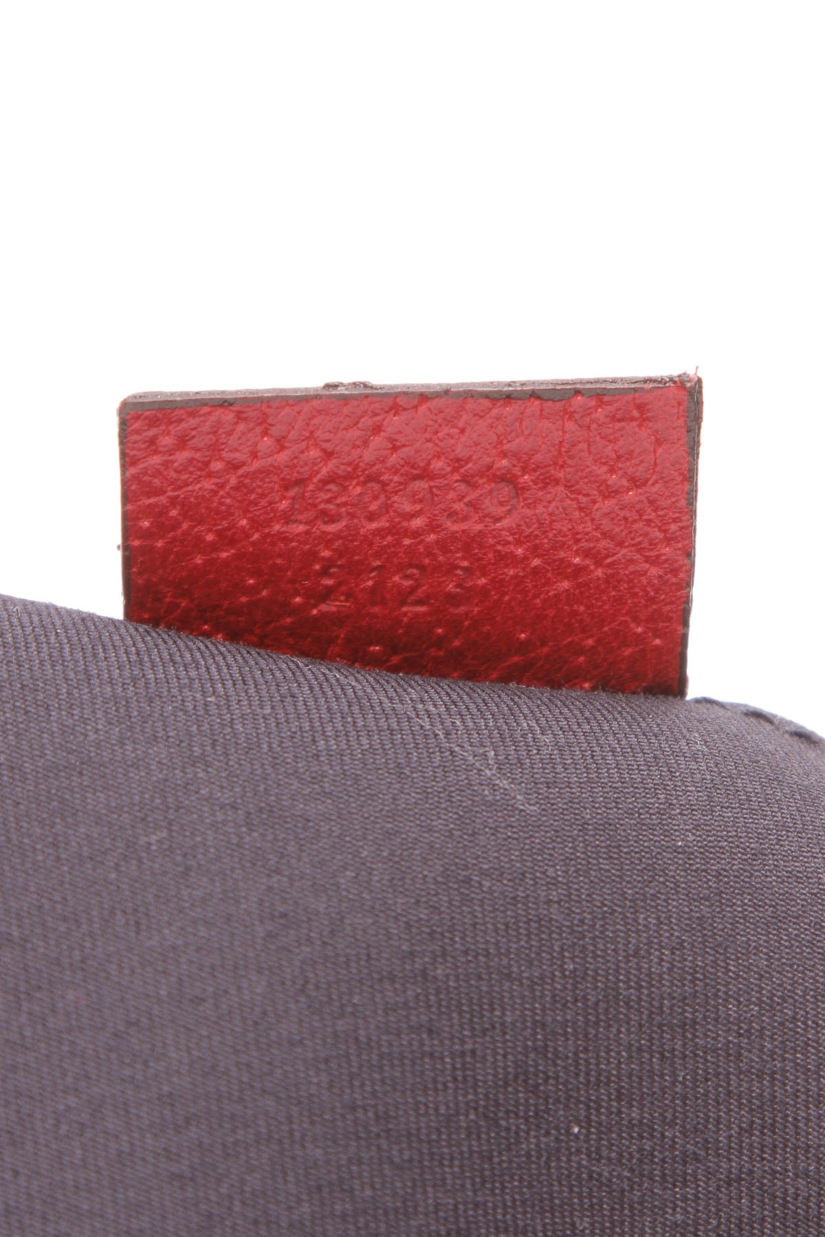 D-Ring Abbey Pochette Bag - Navy Signature Canvas/ Red