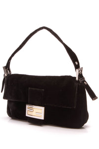 Fendi Baguette Bag Black Velvet
