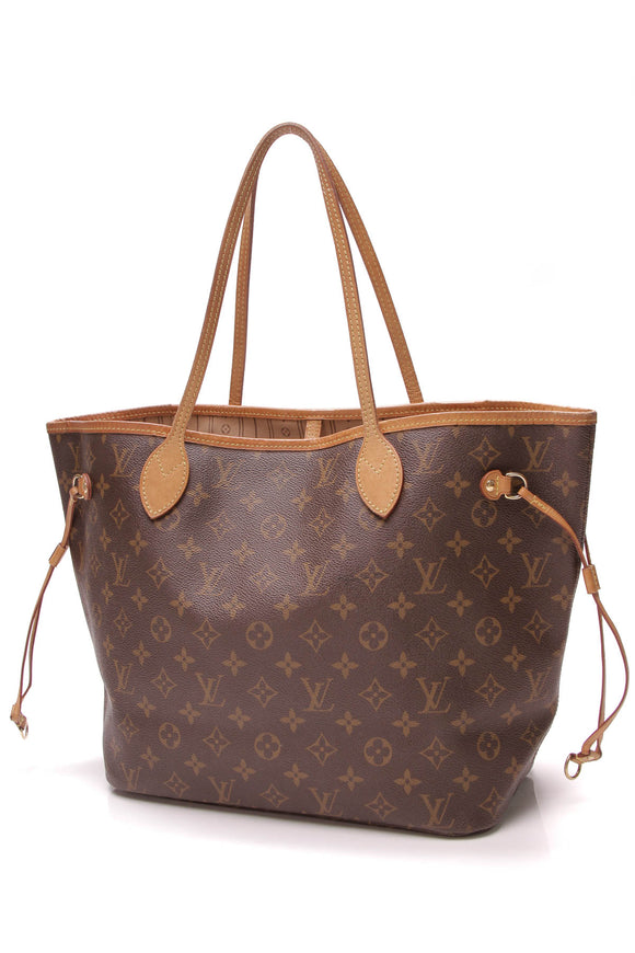 Louis Vuitton Neverfull MM Tote Bag Monogram Canvas Brown