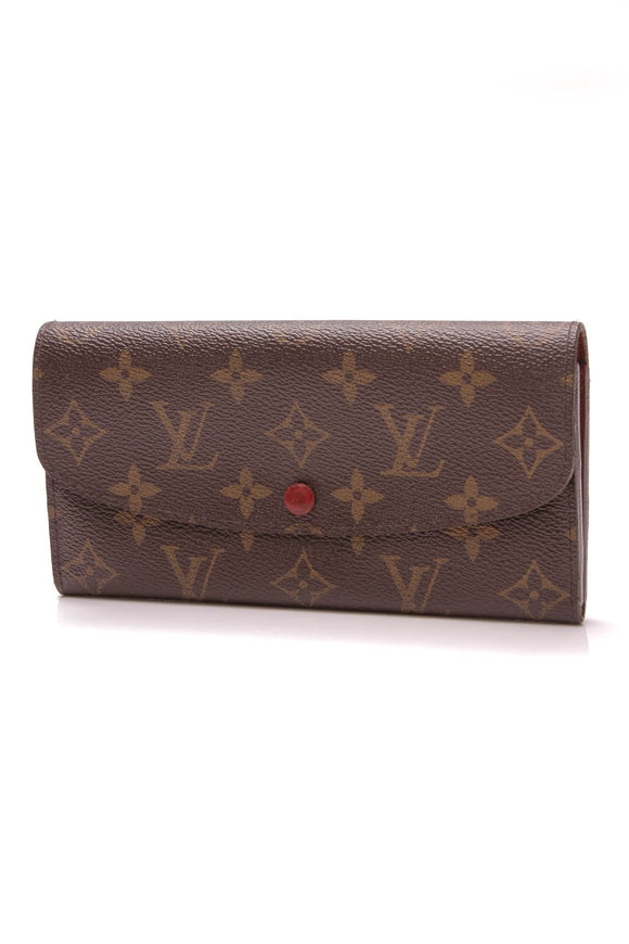 Louis Vuitton Emilie Wallet Monogram Rouge Brown Red