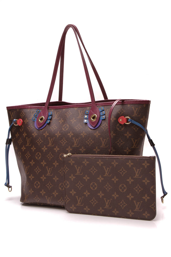Louis Vuitton Totem Neverfull MM Tote Bag Monogram Brown