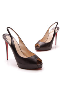 Christian Louboutin Private Number 120mm Slingback Pumps Black 41