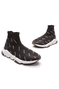 Balenciaga Speed Logo Sock Men's Sneakers Black White Size 8