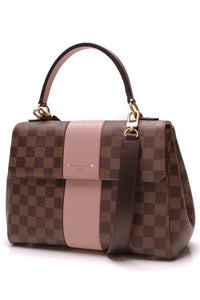 Louis Vuitton Bond Street Bag Damier Ebene Magnolia Brown Pink