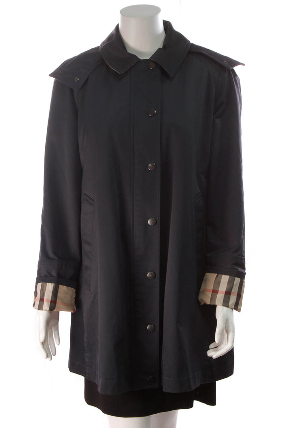 Burberry Brit BowPark Raincoat Navy Size 14