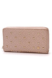 Tory Burch Fleming Studded Zip Wallet Goan Sand Nude