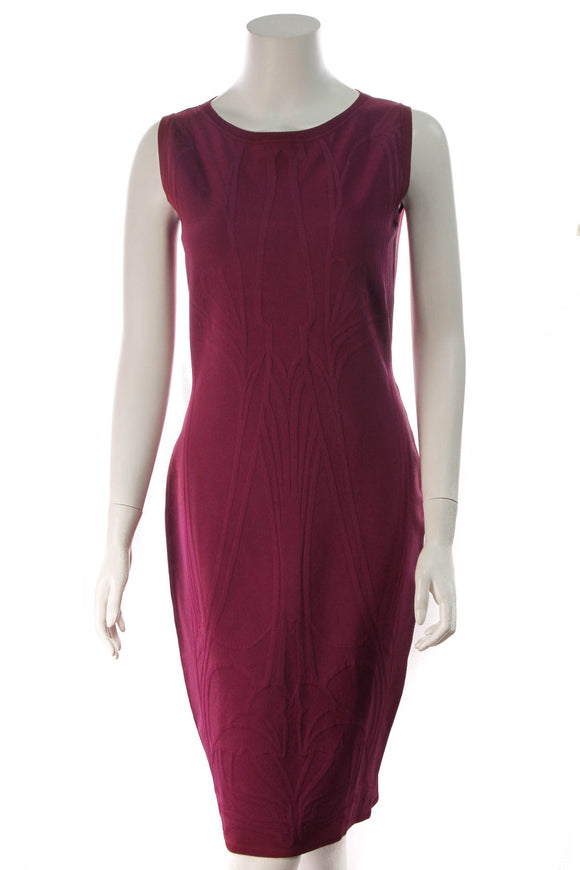 Gucci Jacquard Bodycon Dress Magenta US Size 12
