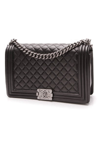 Chanel New Medium Boy Bag Black Lambskin