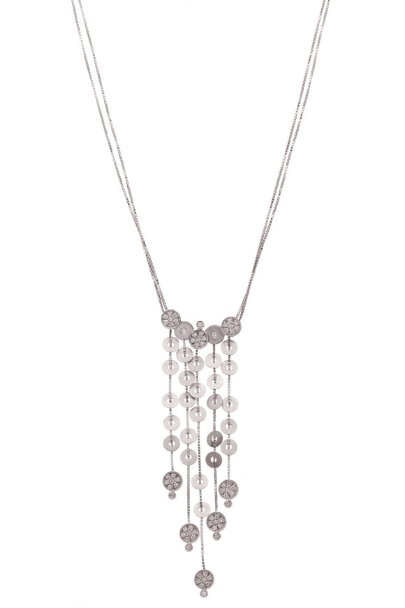 Diamond Waterfall Necklace White Gold