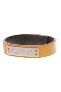 Louis Vuitton Press It Bracelet Citron Taurillon Yellow Leather