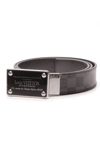 Louis Vuitton Inventeur Reversible Belt Damier Graphite Size 38