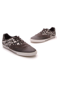 Louis Vuitton Wingtip Graffiti Men's Sneakers Gray White US Size 10