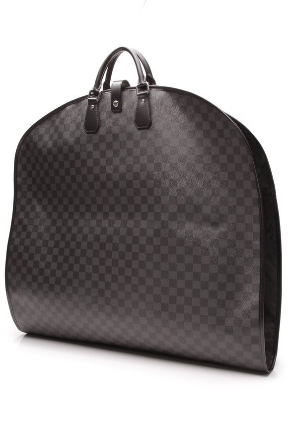 Louis Vuitton 2 Hanger Garment Bag Damier Graphite Gray