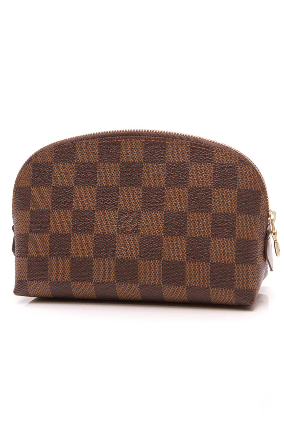 Louis Vuitton Cosmetic Pouch Damier Ebene Brown