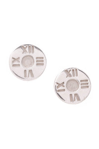 Tiffany & Co. Atlas Stud Earrings Silver