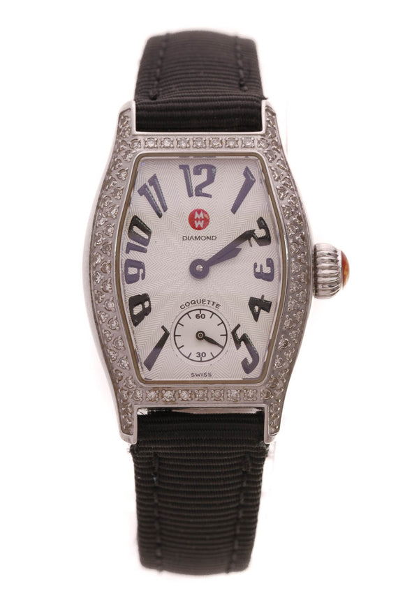Michele Diamond Coquette Petite Watch Steel Black