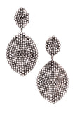 Diamond Teardrop Earrings Rhodium Plated Yellow Gold