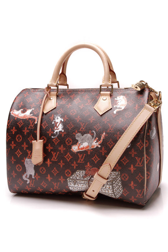 Louis Vuitton Catogram Speedy Bandouliere 30 Bag Transformed Monogram Black