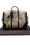 Gucci Blooms Briefcase Messenger Bag Supreme Canvas Beige Green