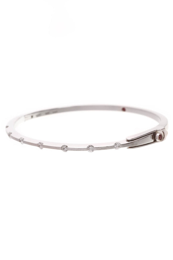 Roberto Coin Diamond Classica Parisienne Bangle Bracelet White Gold