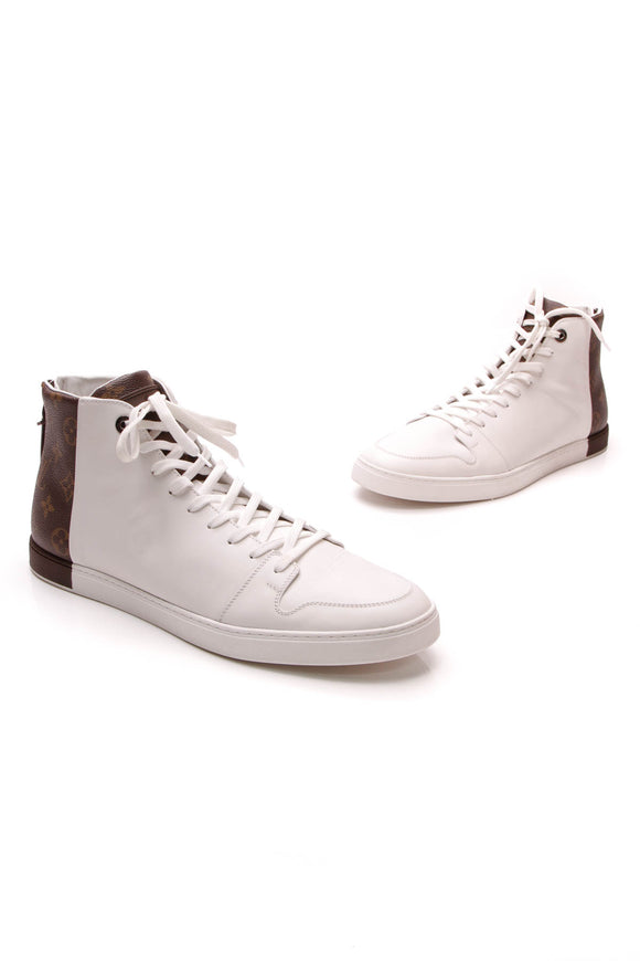 Louis Vuitton Line Up High-Top Men's Sneakers Monogram White US Size 11.5