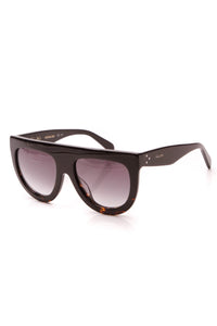 Celine Flat-Top Shadow Sunglasses CL41398 Black Havana Brown