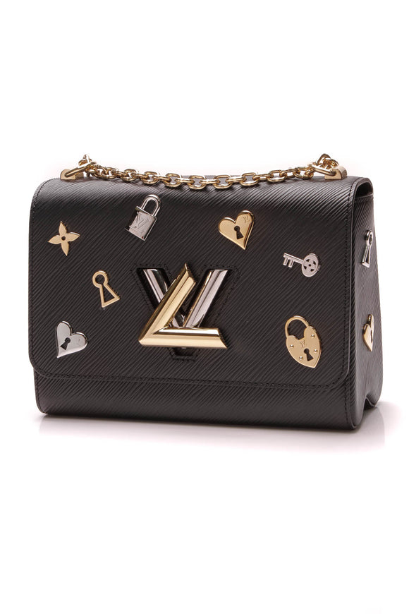 Louis Vuitton Epi Love Locks Twist MM Bag Black