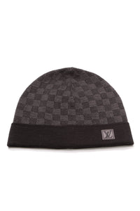 Louis Vuitton Knit Beanie Hat Damier Graphite Black Gray