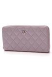 Chanel Quilted Zippy Wallet Lavender