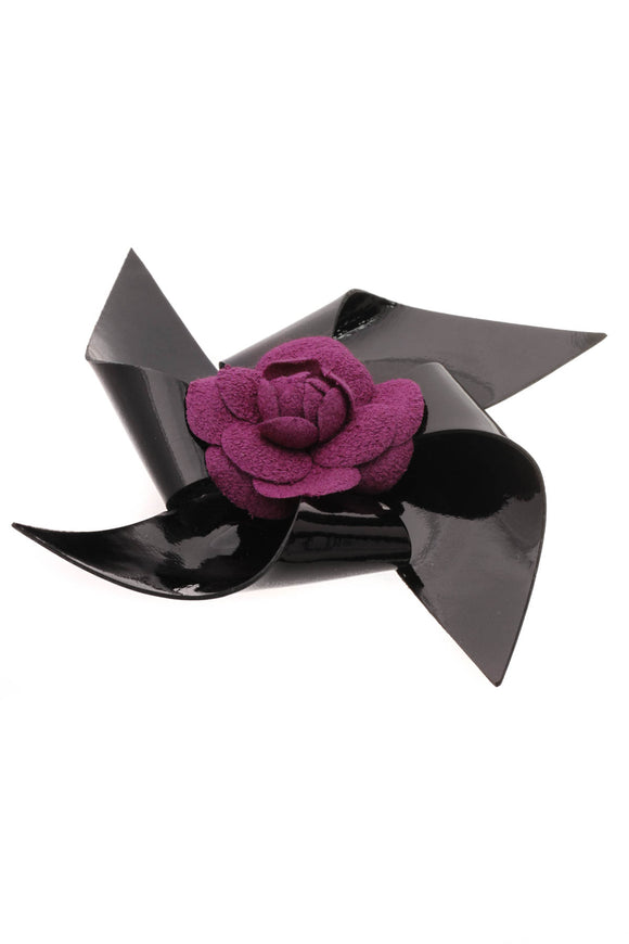 Chanel Camellia Pinwheel Brooch Purple