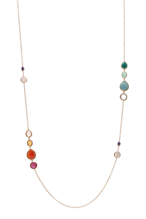 Ippolita Riviera Sky Rock Candy Gelato Station Necklace Yellow Gold