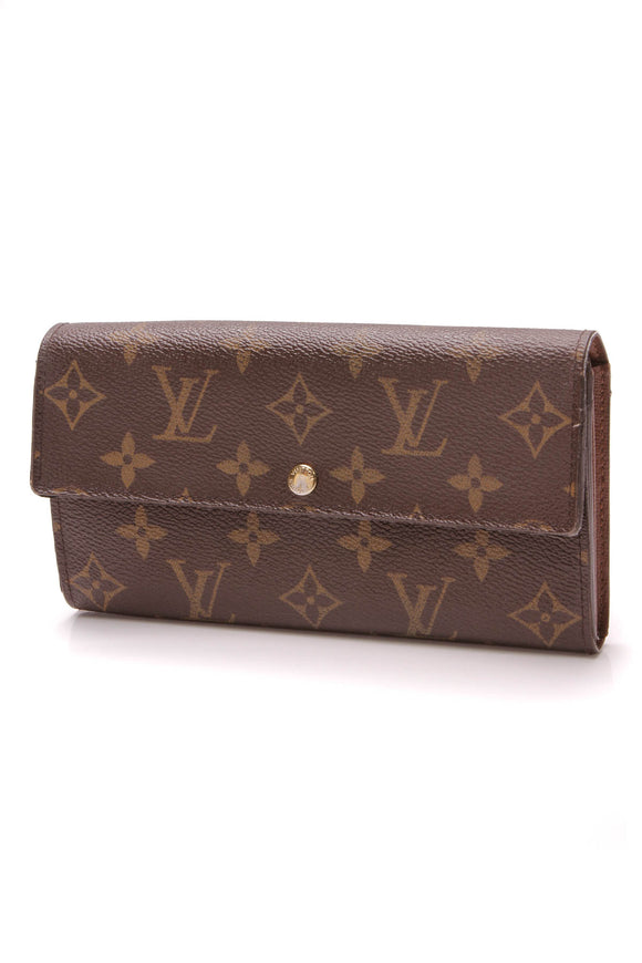 Louis Vuitton Sarah Wallet Monogram Canvas Brown