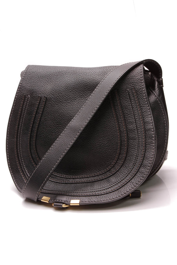 Chloe Marcie Medium Crossbody Bag Black