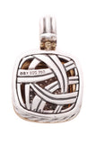 David Yurman 14mm Pave Diamond Albion Pendant Silver Gold