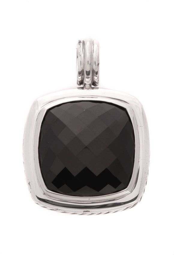 David Yurman 20mm Black Onyx Albion Pendant Silver