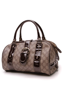 Gucci Vanity Boston Bag Supreme Canvas Beige Brown