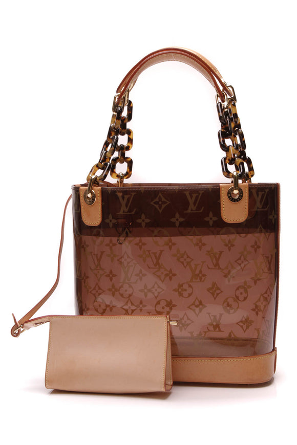 Louis Vuitton Cabas Sac Ambre PM Bag Vinyl Brown