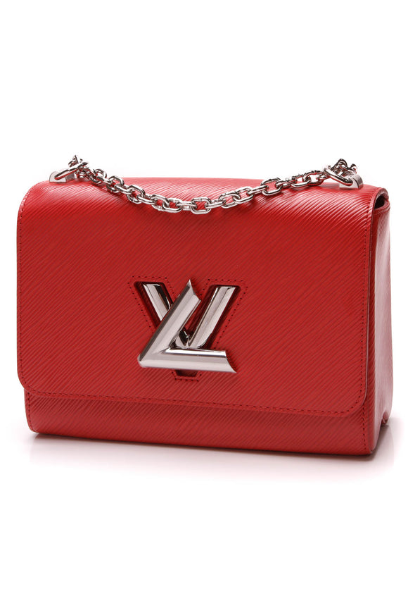 Louis Vuitton Epi Twist MM Bag Coquelicot Pink Red