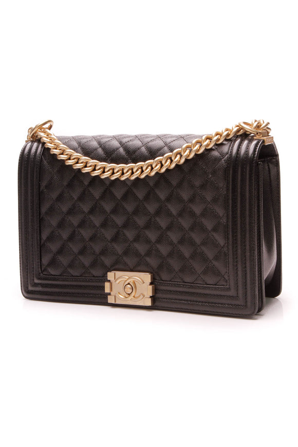 Chanel New Medium Boy Bag Black Caviar