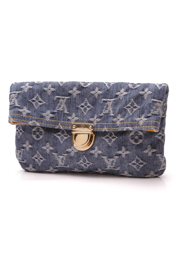 Louis Vuitton Pochette Clutch Bag Monogram Denim