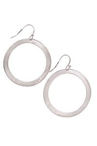 Ippolita Wavy Hoop Earrings Silver