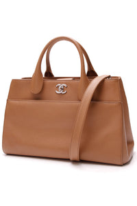 Chanel Executive Cerf Tote Bag Brown Caviar