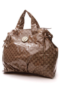 Gucci Hysteria Large Tote Bag Crystal Canvas Beige