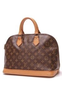 Louis Vuitton Vintage Alma PM Bag Monogram Canvas Brown