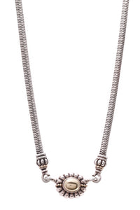 Lagos Caviar Snake Chain Pendant Necklace Silver Gold