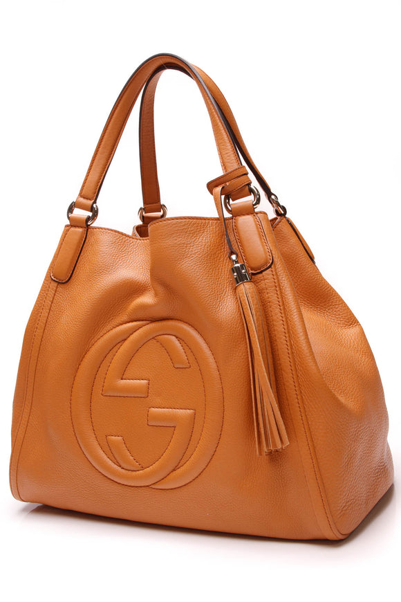 Gucci Soho Top Handle Tote Bag Orange