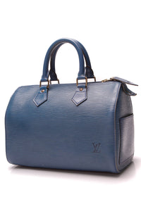Louis Vuitton Epi Speedy 25 Bag Blue Celeste