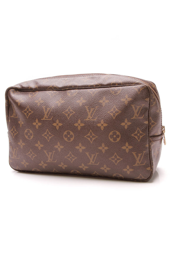 Louis Vuitton Vintage Trousse Toilette 28 Toiletry Case Monogram Brown