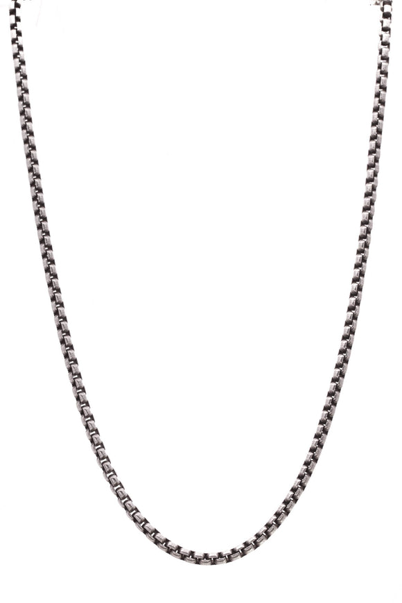 David Yurman 3.6mm Medium Box Chain Necklace Silver Gold